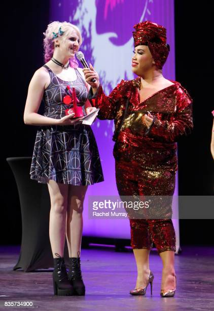 Megan Walter and Patrick Starrr at the 2017 NYX Professional Makeup FACE Awards at The Shrine Auditorium on August 19 2017 in Los Angeles California
