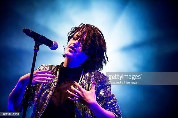Megan Washington performs for fans during Splendour in the Grass on July 26 2015 in Byron Bay Australia