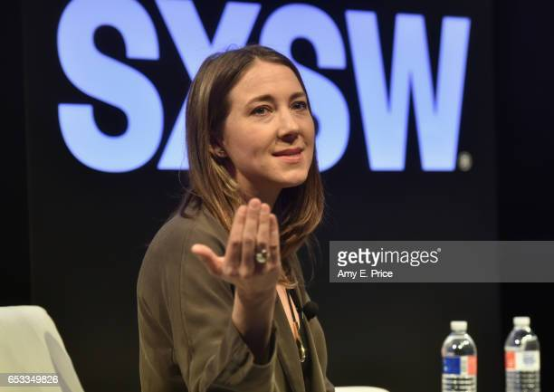 Megan West of SoundCloud speaks onstage at 'Spotify and the New Music Economy' during 2017 SXSW Conference and Festivals at Austin Convention Center...