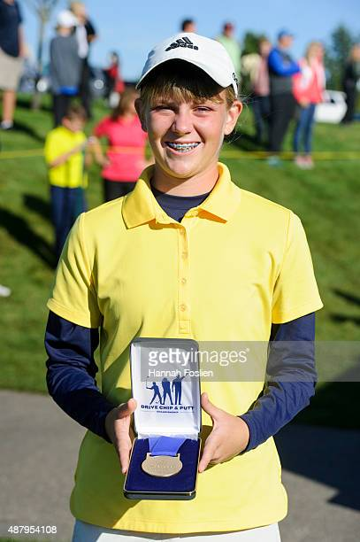 Megan Whittaker poses for a photo after winning first place overall in a Regional Finals for 1415 year old girls at the Drive Chip and Putt...