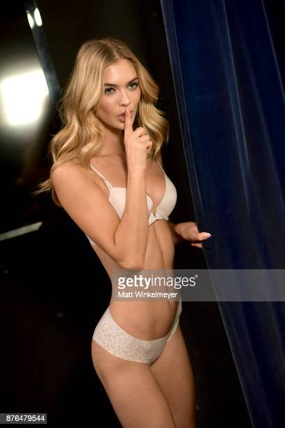 Megan Williams poses in Hair Makeup during 2017 Victoria's Secret Fashion Show In Shanghai at MercedesBenz Arena on November 20 2017 in Shanghai China
