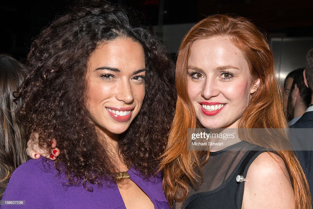 Megan Wilson (L) and Olga Nemcova attend Celebrate Your Status 2012 by the Happy Hearts Fund at Gansevoort Park Hotel on December 17, 2012 in New York City.