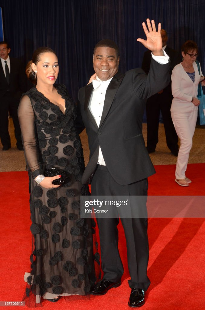 Megan Wollover and <a gi-track='captionPersonalityLinkClicked' href=/galleries/search?phrase=Tracy+Morgan&family=editorial&specificpeople=182428 ng-click='$event.stopPropagation()'>Tracy Morgan</a> poses on the red carpet during the White House Correspondents' Association Dinner at the Washington Hilton on April 27, 2013 in Washington, DC.