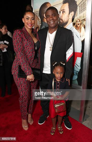 Megan Wollover Tracy Morgan and daughter Maven Sonae Morgan attend the premiere of Warner Bros Pictures' 'Fist Fight' at Regency Village Theatre on...