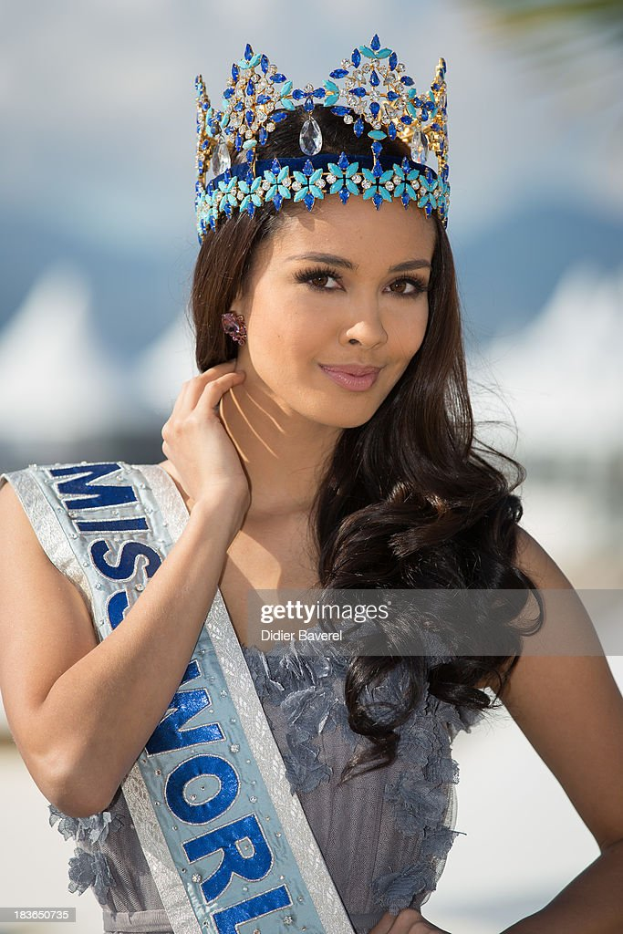<a gi-track='captionPersonalityLinkClicked' href=/galleries/search?phrase=Megan+Young&family=editorial&specificpeople=7864923 ng-click='$event.stopPropagation()'>Megan Young</a>, Miss World 2013, poses during a photocall at Hotel Majestic on October 8, 2013 in Cannes, France.