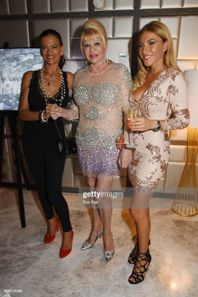 Megann Bosque, Ivana Trump and Cathy Martin attend the Massimo Birthday Party at Hotel de Paris As Part of Saint-Tropez Party On French Riviera on August 20, 2017 in Saint-Tropez, France.