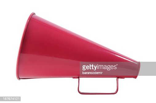 megaphone on white background