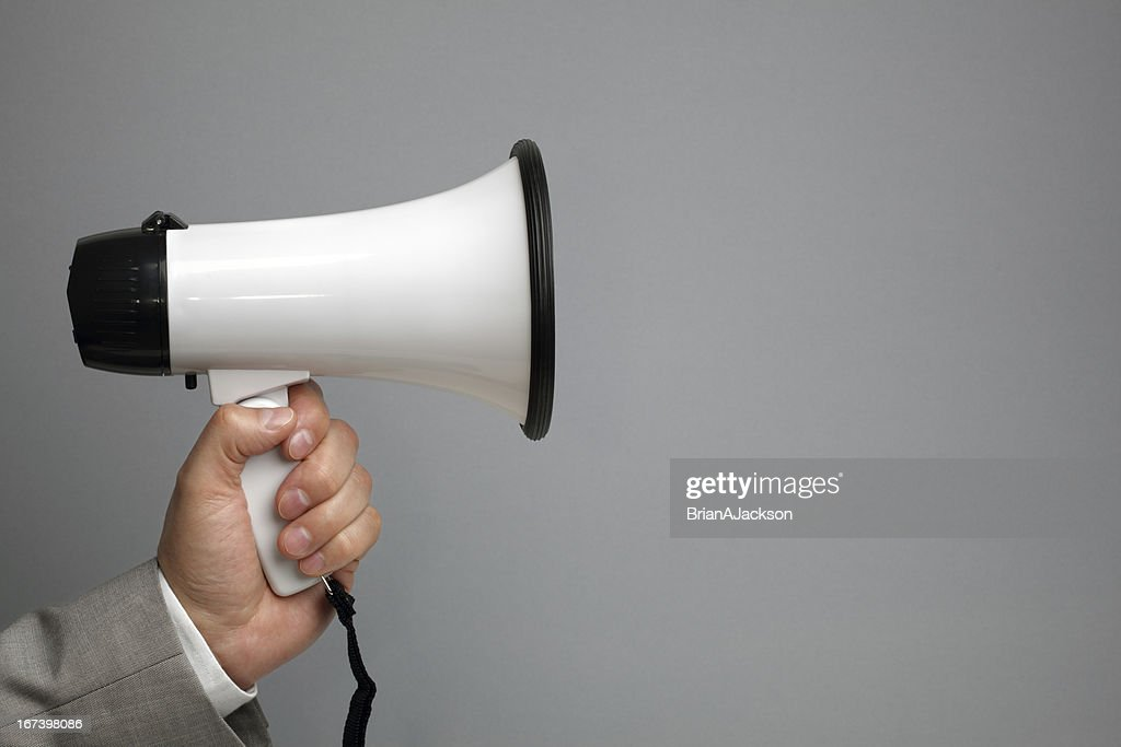 Megaphone with copy space : Stock Photo