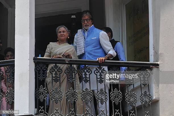 Megastar Amitabh Bachchan along with his wife Jaya Bachchan was present at the inauguration ceremony of a jewellery company in Kolkata on May 8 of...