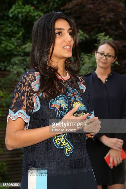 Megha Mittal and Caroline Rush attend the British Fashion Council's 2017 Fashion Trust grant recipients announcement on May 24 2017 in London England