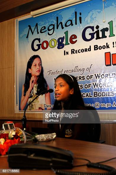 Meghali a ten year old girl called as google girl gives her test to get the India Book of Records in the eastern Indian city Bhubaneswar India Sunday...