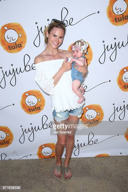 Meghan King Edmonds and child attend JuJuBe's 2nd Annual JuJuBeach Event celebrating lthe launch of Baby Tula Collaboration on April 22 2017 in...