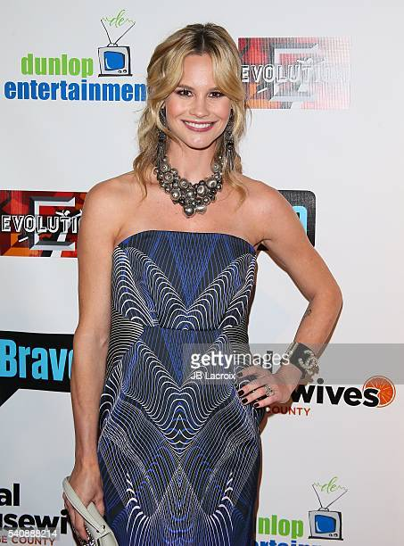Meghan King Edmonds attends the premiere party for Bravo's 'The Real Housewives of Orange County' 10 Year Celebration at Boulevard3 on June 16 2016...