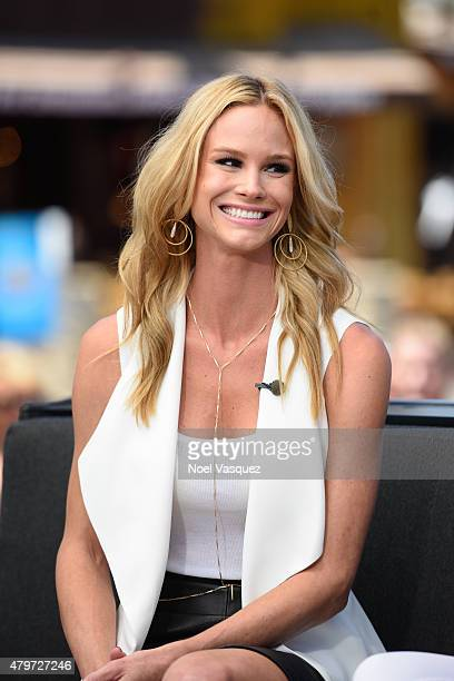 Meghan King Edmonds visits 'Extra' at Universal Studios Hollywood on July 6 2015 in Universal City California