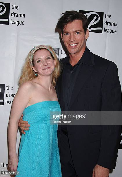 Meghan Lawrence and Harry Connick Jr during 72nd Annual Drama League Awards Ceremony and Luncheon Arrivals at The Marriott Marquis Hotel in New York...