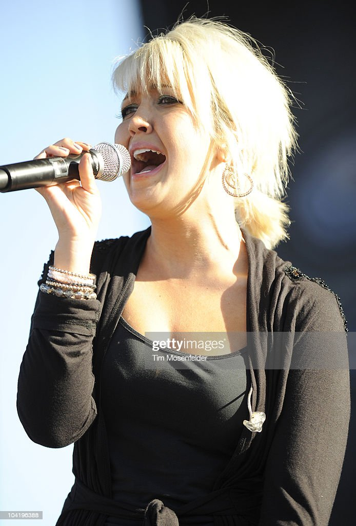 Meghan Linsey of Steel Magnolia performs in advance of their self titled release at Shoreline Amphitheatre on September 15, 2010 in Mountain View, California.