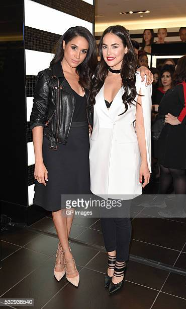 Meghan Markle and Chloe Wilde attend Sephora Unveils Toronto Eaton Centre Remodel at Toronto Eaton Centre on May 19 2016 in Toronto Canada