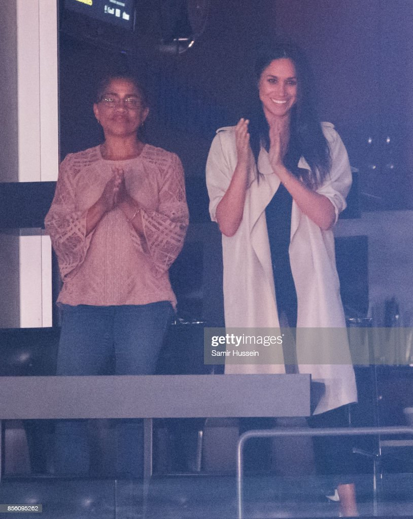 Meghan Markle and Doria Radlan attend the Closing Ceremony on day 8 of the Invictus Games Toronto 2017 on September 30, 2017 in Toronto, Canada. The Games use the power of sport to inspire recovery, support rehabilitation and generate a wider understanding and respect for the Armed Forces.