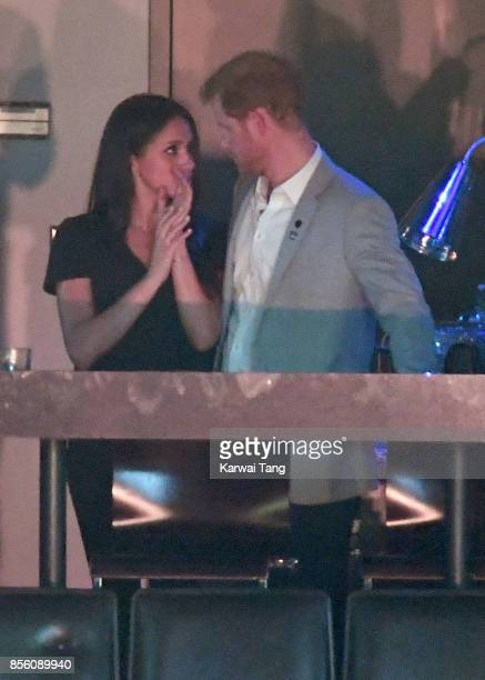 Meghan Markle and Prince Harry are seen at the Closing Ceremony on day 8 of the Invictus Games Toronto 2017 at the Air Canada Centre on September 30...