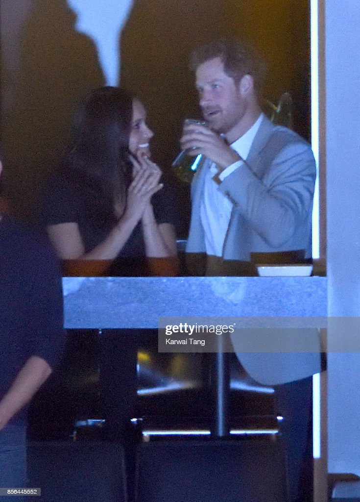 Meghan Markle and Prince Harry are seen at the Closing Ceremony on day 8 of the Invictus Games Toronto 2017 at the Air Canada Centre on September 30, 2017 in Toronto, Canada. The Games use the power of sport to inspire recovery, support rehabilitation and generate a wider understanding and respect for the Armed Forces.