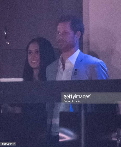 Meghan Markle and Prince Harry attend the Closing Ceremony on day 8 of the Invictus Games Toronto 2017 on September 30 2017 in Toronto Canada The...