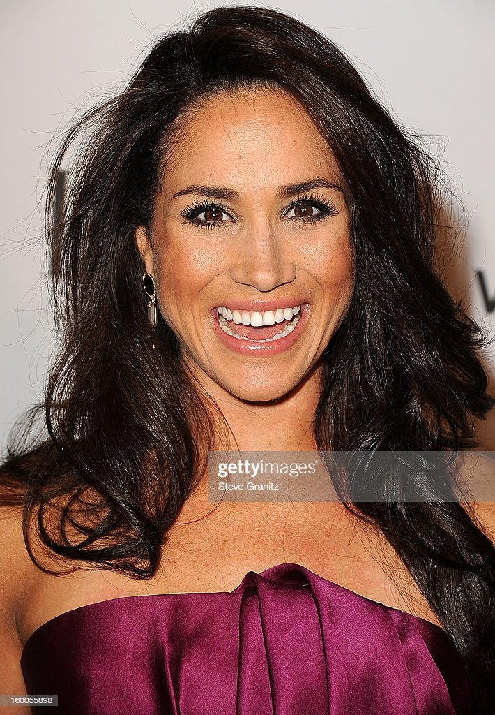 Meghan Markle arrives at the ELLE's 2nd Annual Women In Television Celebratory Dinner at Soho House on January 24, 2013 in West Hollywood, California.