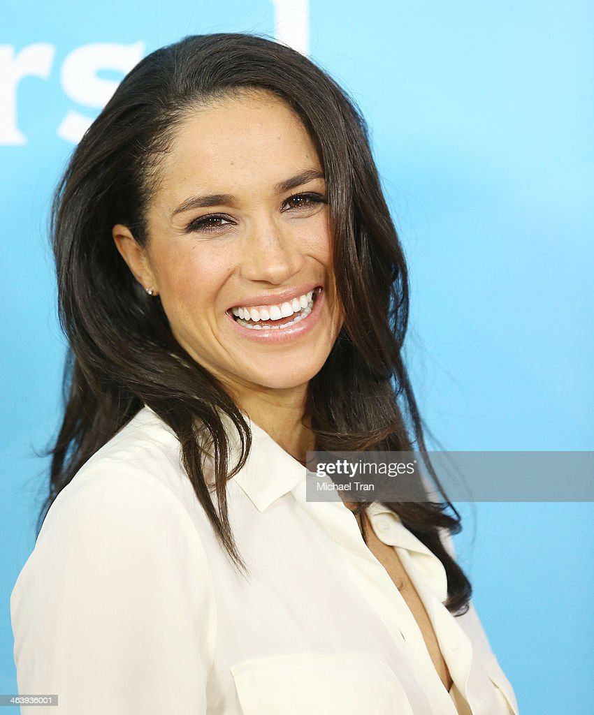 Meghan Markle arrives at the NBC/Universal 2014 TCA Winter press tour held at The Langham Huntington Hotel and Spa on January 19, 2014 in Pasadena, California.