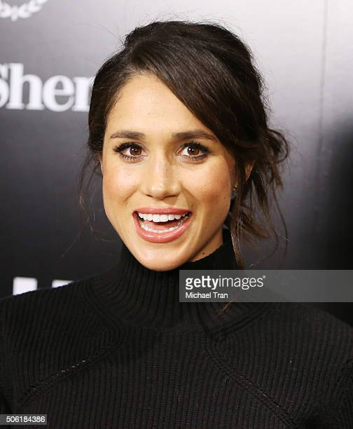 Meghan Markle arrives at the USA Network's 'Suits' season 5 held at Sheraton Los Angeles Downtown Hotel on January 21 2016 in Los Angeles California