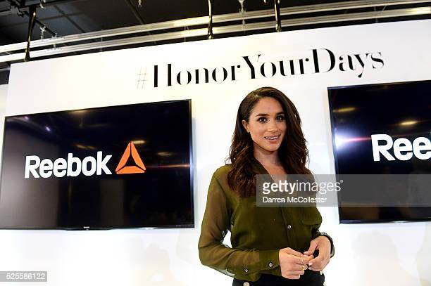 Meghan Markle attends REEBOK #HonorYourDays at Reebok Headquarters on April 28 2016 in Canton Massachusetts