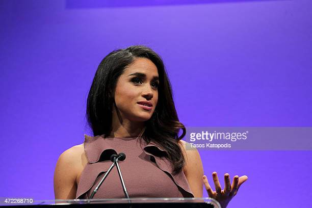 Meghan Markle star of USA Network's orginal drama 'Suits' hosts the 2015 Women in Cable Telecommunications Signature Luncheon at McCormick Place on...