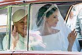 Meghan Markle Arrives At Windsor Castle Ahead Of Her...