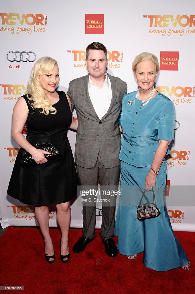 Meghan McCain, James McCain and Cindy Hensley McCain arrive for the Trevor Project's 2013 'TrevorLIVE' Event Honoring Cindy Hensley McCain at Chelsea Piers on June 17, 2013 in New York City.