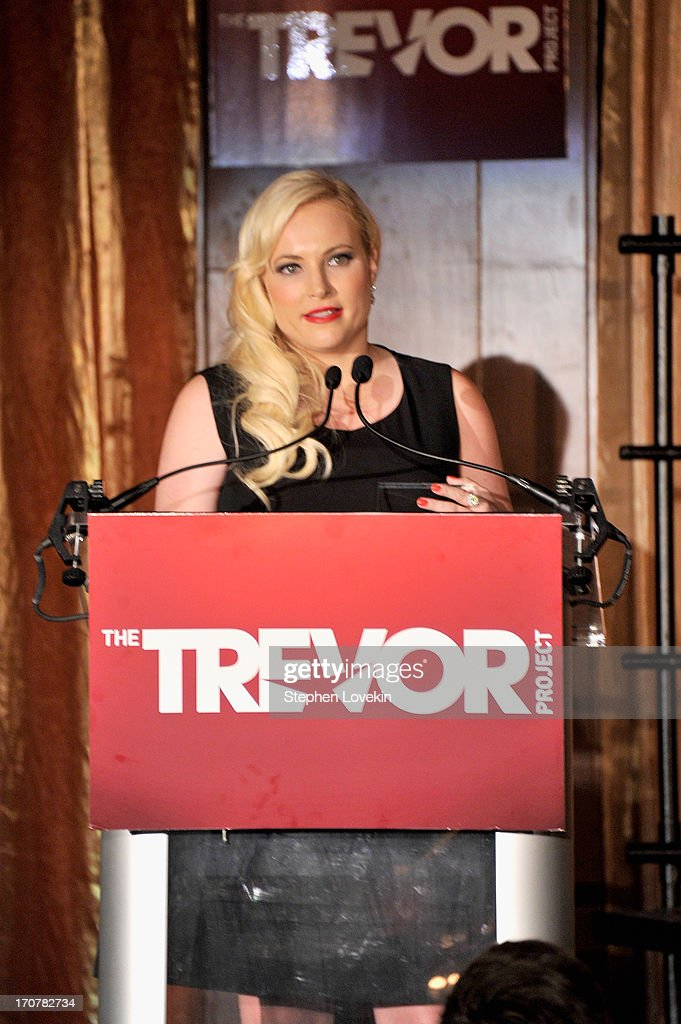 <a gi-track='captionPersonalityLinkClicked' href=/galleries/search?phrase=Meghan+McCain&family=editorial&specificpeople=1045063 ng-click='$event.stopPropagation()'>Meghan McCain</a> speaks on stage at The Trevor Project's 2013 'TrevorLIVE' Event Honoring Cindy Hensley McCain at Chelsea Piers on June 17, 2013 in New York City.