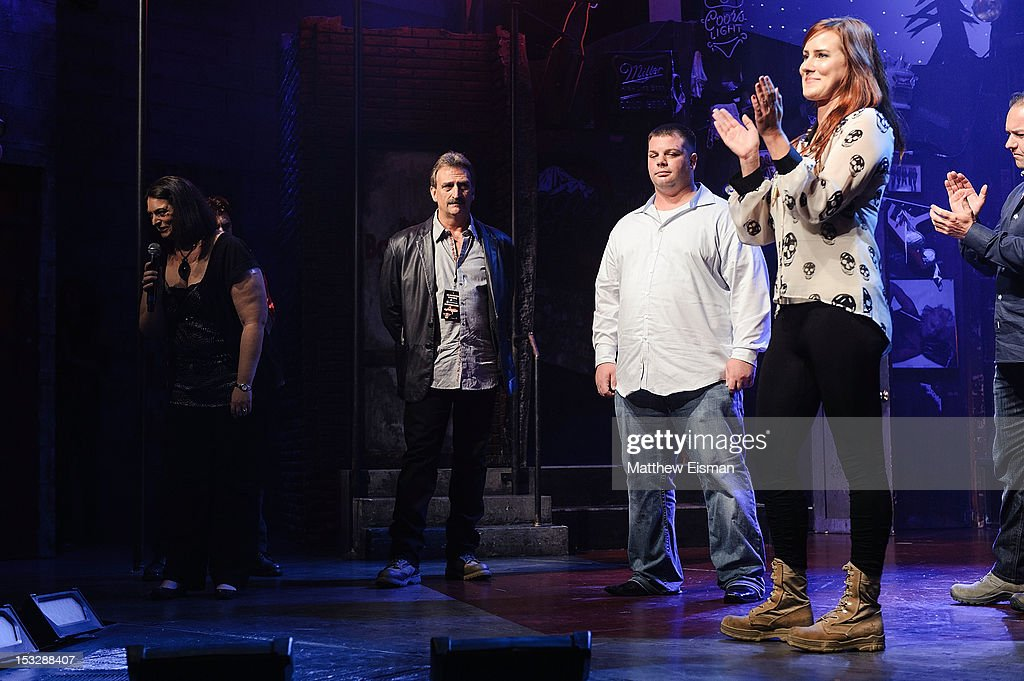 Meghan McDermott (R) attends the 'Rock Of Ages' on Broadway Military Tribute Night at Helen Hayes Theatre on October 2, 2012 in New York City.