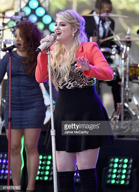 Meghan Trainor performs on NBC's 'Today' at the Rockefeller Center on May 22 2015 in New York New York