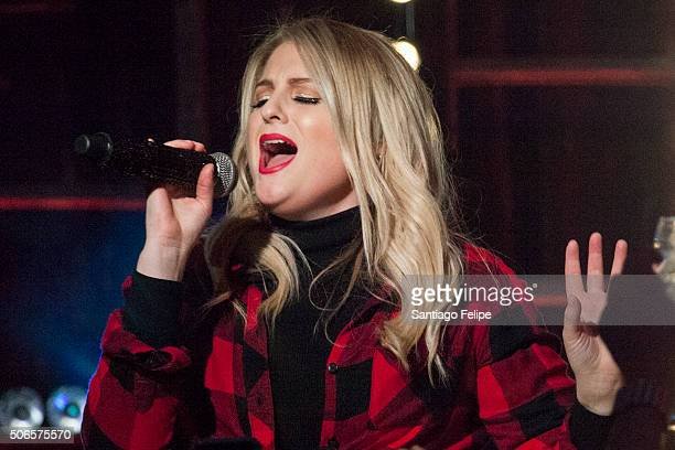 Meghan Trainor performs onstage during Logo New Now Next Honors From Aspen Gay Ski Week on January 23 2016 in Aspen Colorado