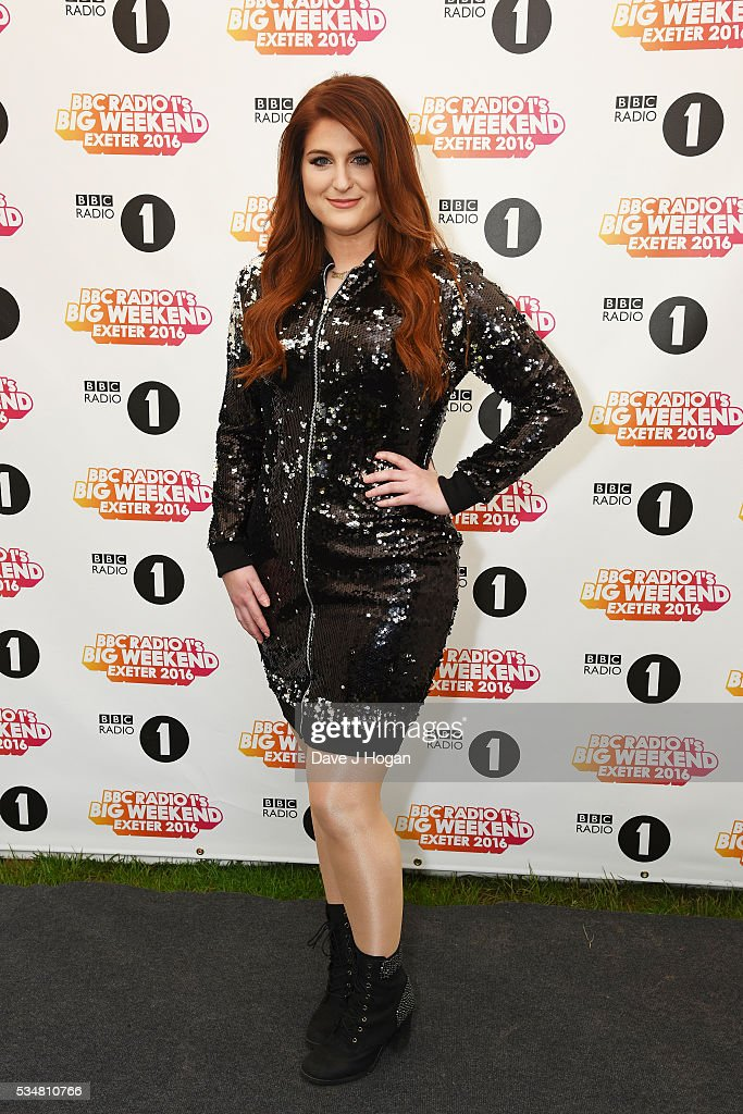 Meghan Trainor poses for a photo during day 1 of BBC Radio 1's Big Weekend at Powderham Castle on May 28 2016 in Exeter England