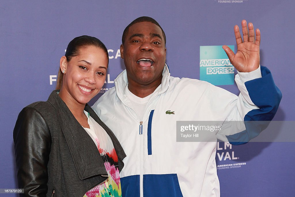 Meghan Wollover and comedian <a gi-track='captionPersonalityLinkClicked' href=/galleries/search?phrase=Tracy+Morgan&family=editorial&specificpeople=182428 ng-click='$event.stopPropagation()'>Tracy Morgan</a> attend Beyond The Screens: The Artist's Angle during the 2013 Tribeca Film Festival at SVA Theater on April 24, 2013 in New York City.