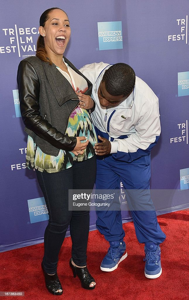 Meghan Wollover, Tracy Morgan attends Tribeca Talks: After the Movie: 'Battle of amFAR' during the 2013 Tribeca Film Festival at SVA Theater on April 24, 2013 in New York City.