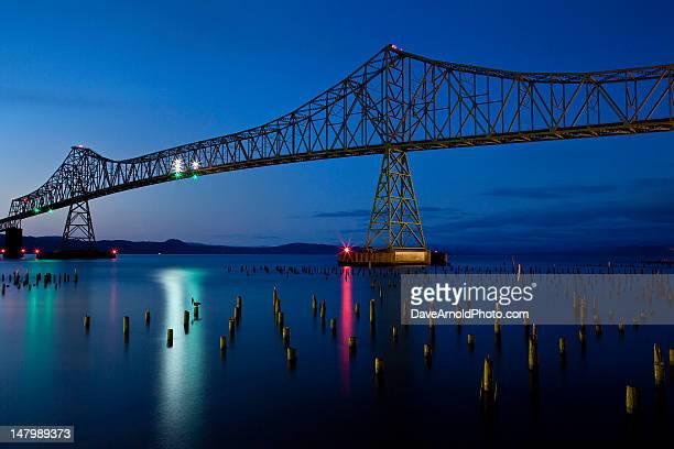 Megler Bridge at night, Astoria