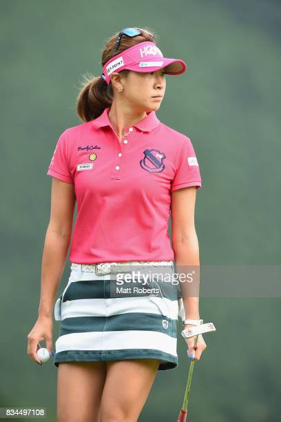 Megumi Kido of Japan looks on during the first round of the CAT Ladies Golf Tournament HAKONE JAPAN 2017 at the Daihakone Country Club on August 18...