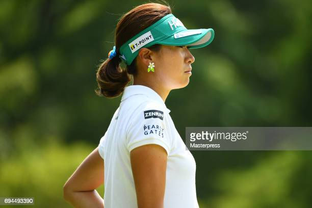 Megumi Kido of Japan looks on during the third round of the Suntory Ladies Open at the Rokko Kokusai Golf Club on June 10 2017 in Kobe Japan