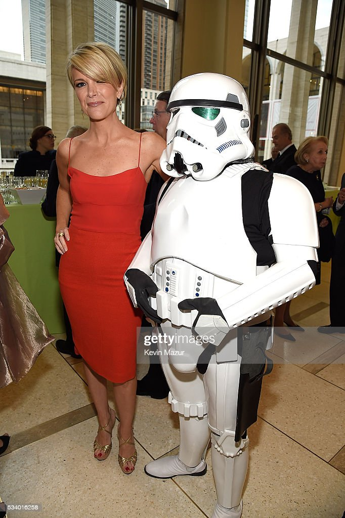 Megyn Kelly and Stormtrooper attend New York Philharmonic's Spring Gala, A John Williams Celebration at David Geffen Hall on May 24, 2016 in New York City.