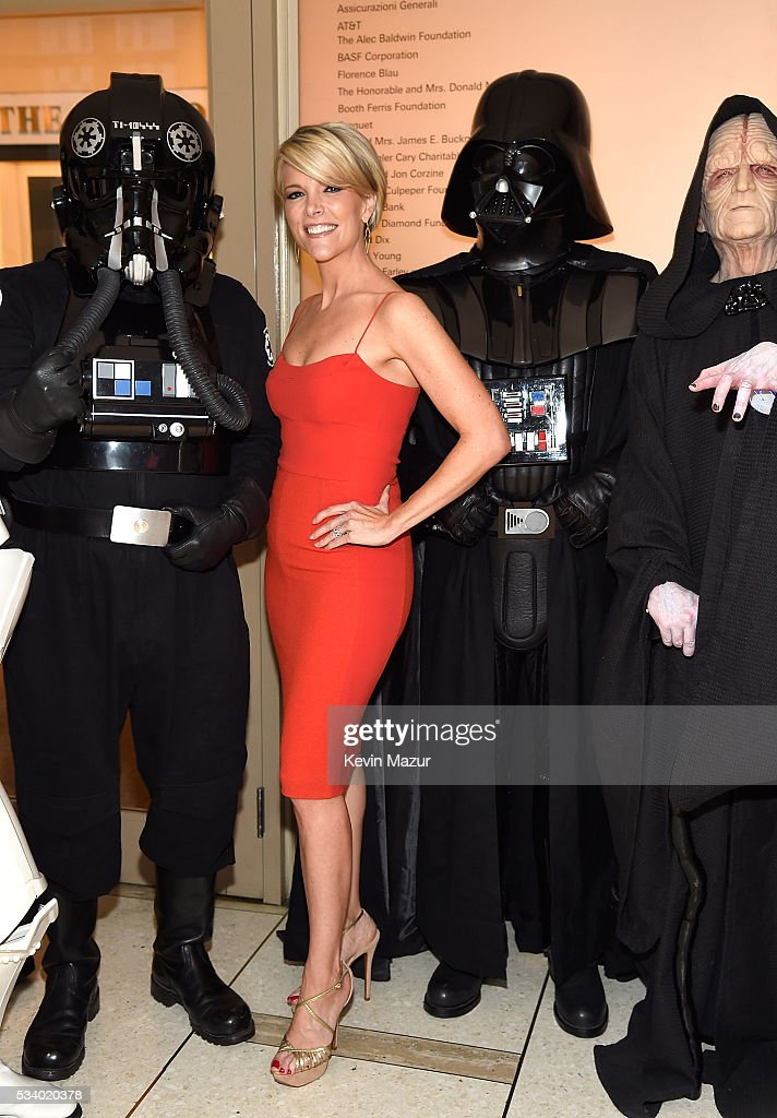 <a gi-track='captionPersonalityLinkClicked' href=/galleries/search?phrase=Megyn+Kelly&family=editorial&specificpeople=5417318 ng-click='$event.stopPropagation()'>Megyn Kelly</a> (C), Darth Vader and Stormtroopers attend New York Philharmonic's Spring Gala, A John Williams Celebration at David Geffen Hall on May 24, 2016 in New York City.