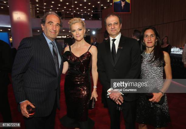 Megyn Kelly Preet Bharara and Dalya Bharara attend the 2017 Time 100 Gala at Jazz at Lincoln Center on April 25 2017 in New York City