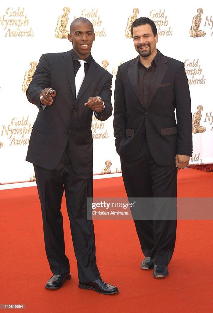 Mehcad Brooks and Ricardo Chavira during 45th Monte Carlo Television Festival Closing Award Ceremony at Grimaldi Forum in Monte Carlo Monaco