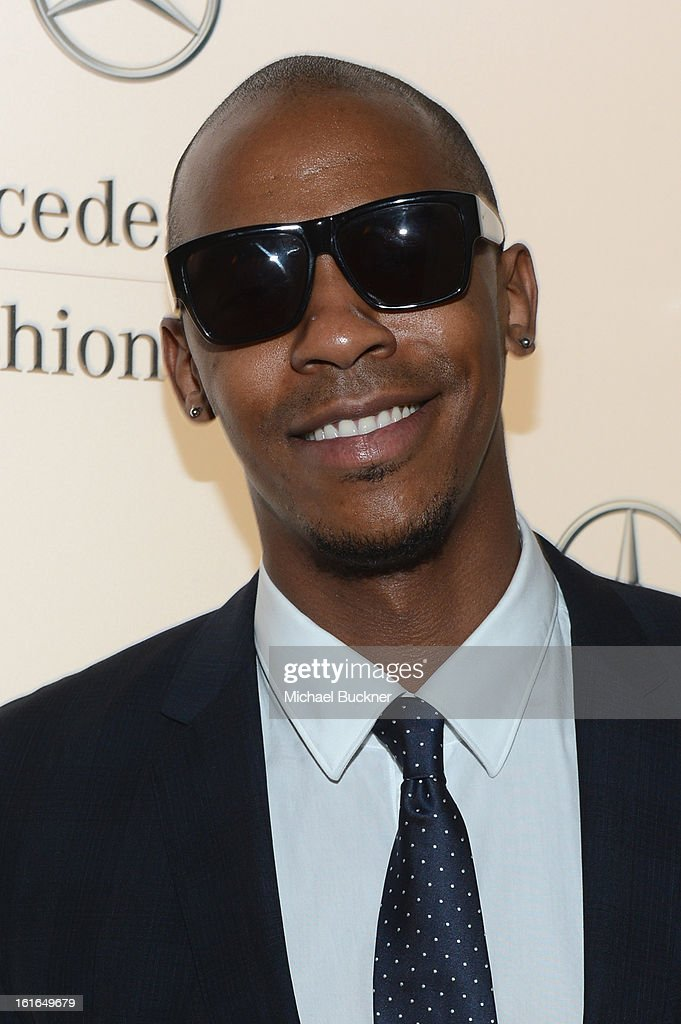 <a gi-track='captionPersonalityLinkClicked' href=/galleries/search?phrase=Mehcad+Brooks&family=editorial&specificpeople=817717 ng-click='$event.stopPropagation()'>Mehcad Brooks</a> attends the Mercedes-Benz Star Lounge during Mercedes-Benz Fashion Week Fall 2013 at Lincoln Center on February 13, 2013 in New York City.