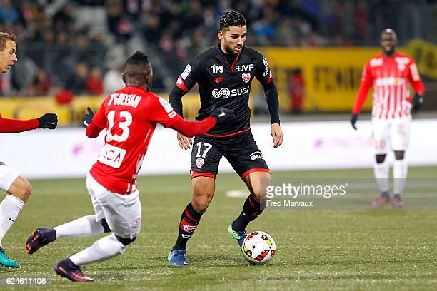 Mehdi Abeid of Dijon during the Ligue 1 match between As Nancy Lorraine and Dijon FCO at Stade Marcel Picot on November 19 2016 in Nancy France