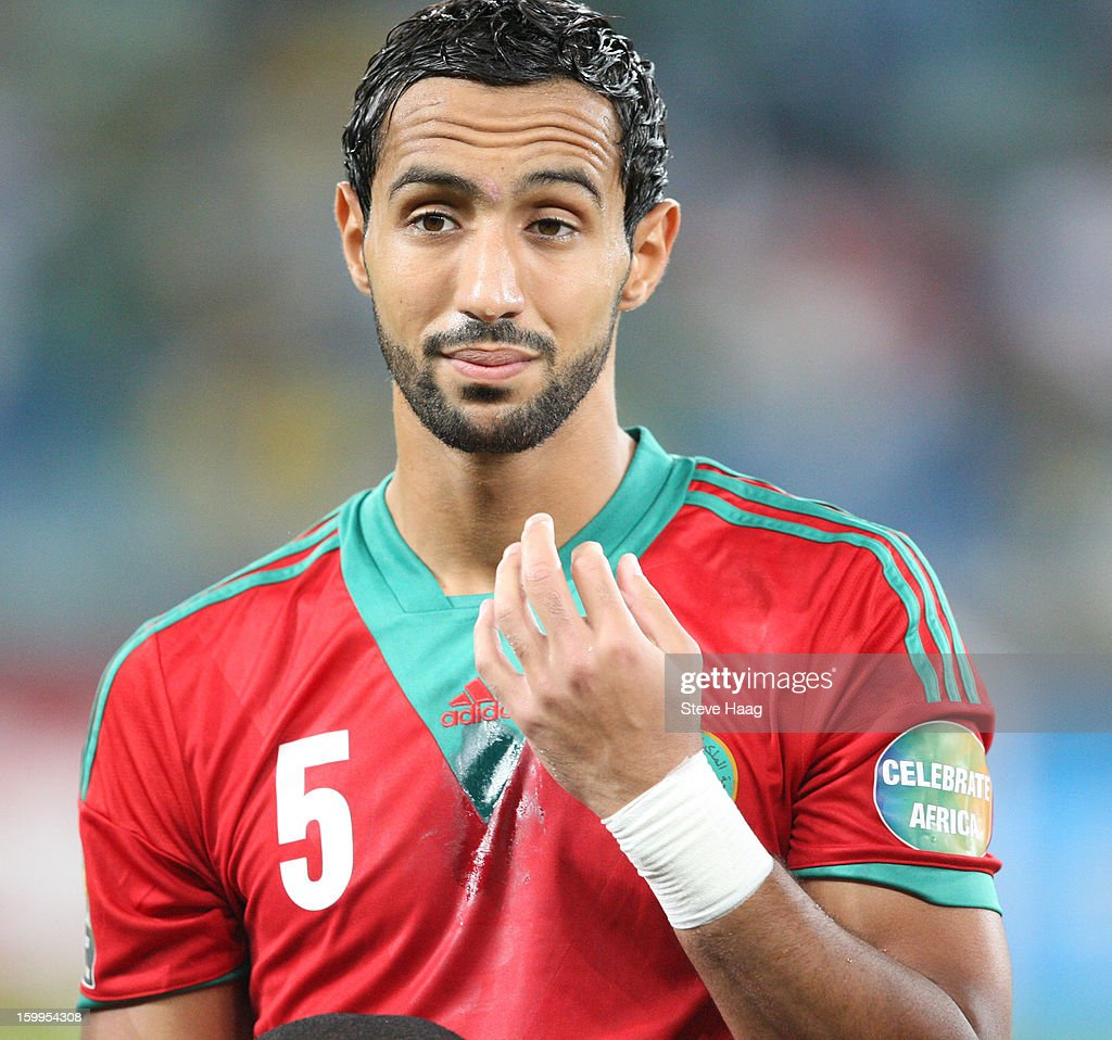 Mehdi Benatia during the 2013 African Cup of Nations match between Morocco and Cape Verde at Moses Mahbida Stadium on January 23, 2013 in Durban, South Africa.