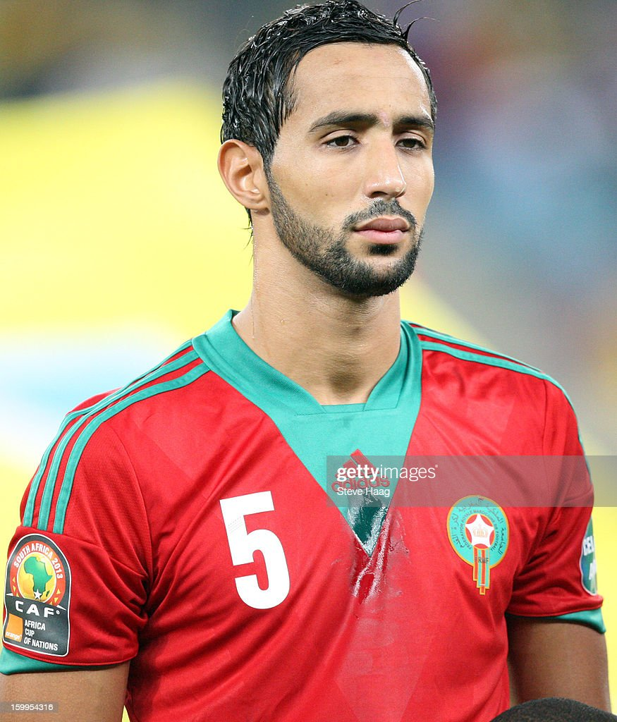 <a gi-track='captionPersonalityLinkClicked' href=/galleries/search?phrase=Mehdi+Benatia&family=editorial&specificpeople=778655 ng-click='$event.stopPropagation()'>Mehdi Benatia</a> during the 2013 African Cup of Nations match between Morocco and Cape Verde at Moses Mahbida Stadium on January 23, 2013 in Durban, South Africa.
